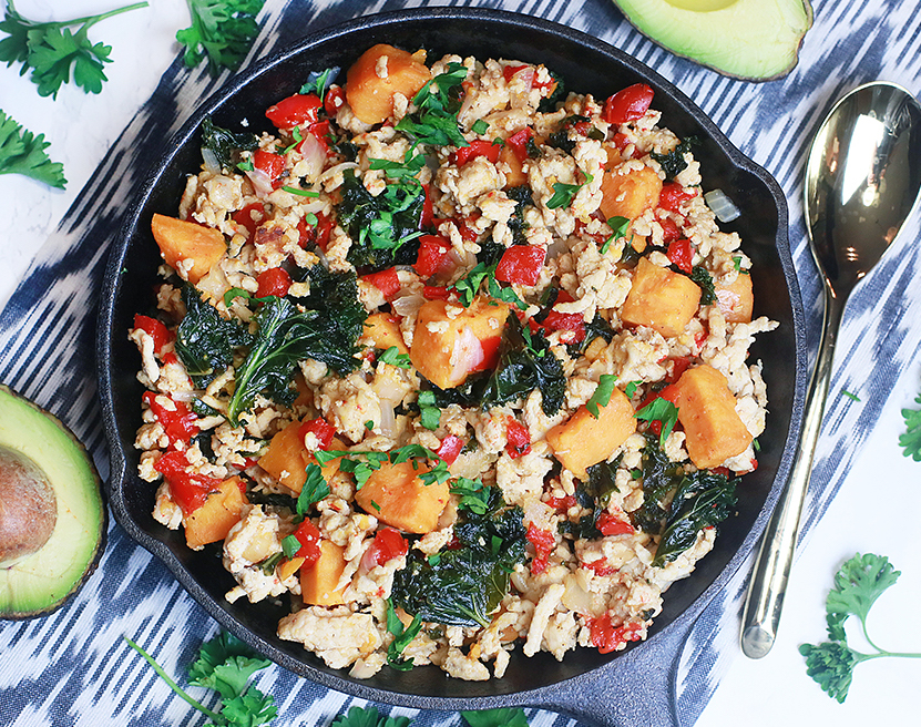 Paleo Ground Turkey Sweet Potato Skillet