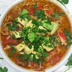 Low Carb Paleo Chicken Enchilada Soup
